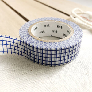 navy blue grid washi tape japanese masking tape