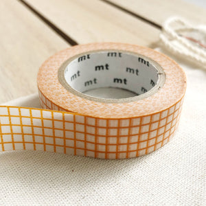 orange grid washi tape