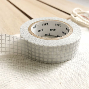 silver grid washi tape