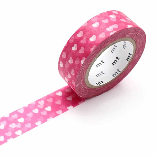 pink heart washi tape deep pink