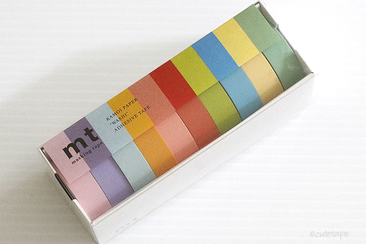 Bright MT Washi Tape Set of 10 -  Japanese Masking Tape
