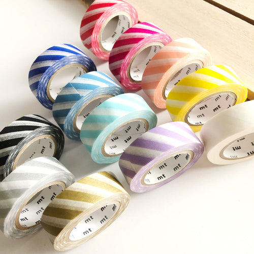 mt Striped Washi Tape Diagonal Stripe Japanese Tapes