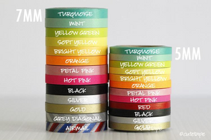 narrow washi tape skinny thin 5mm 7mm colorful