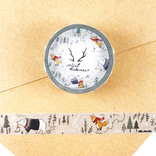 Winter Fox Bear Washi Tape MiriKulo:rer Round Top - Japanese