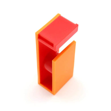 Orange Red MT Tape Cutter / Dispenser Two Tone