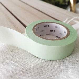 Solid Pastel Green Washi Tape Japanese