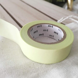 Solid Pastel Lime Washi Tape Japanese
