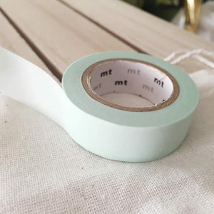Solid Pastel Mint Washi Tape Japanese