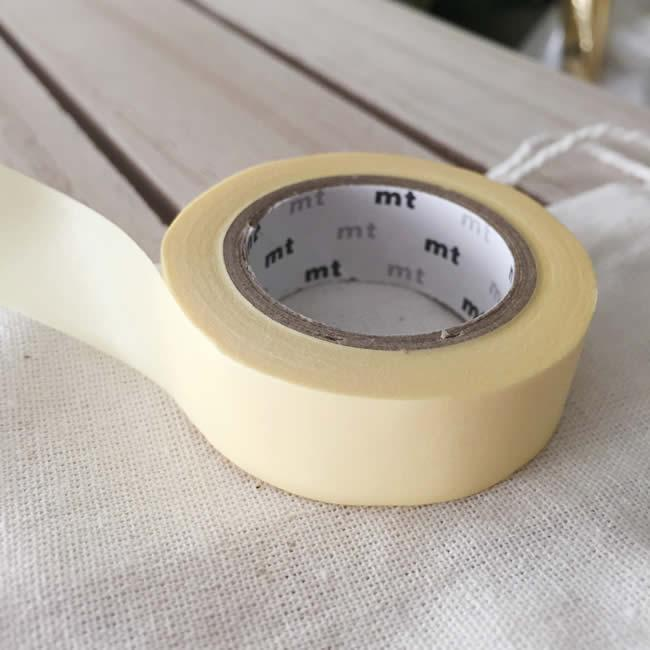 Solid Pastel Yellow Washi Tape Japanese