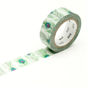 peacock feathers washi tape