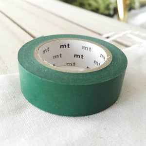 Peacock: Dark Green Washi Tape MT Vibrant Solid Japanese