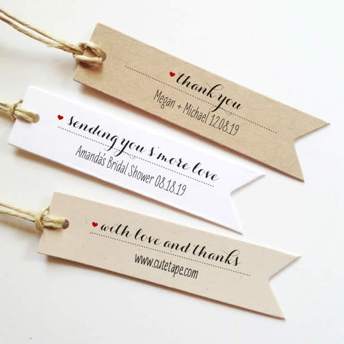 Personalized wedding favor tags Custom Favor Tags Rustic for baby shower or bridal shower.
