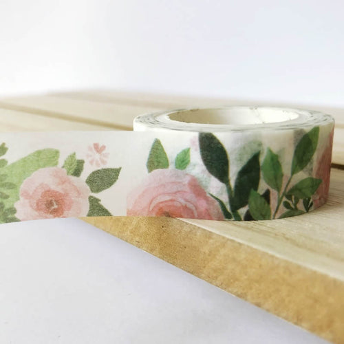 Pink Camellia Washi Tape - Flowers Floral