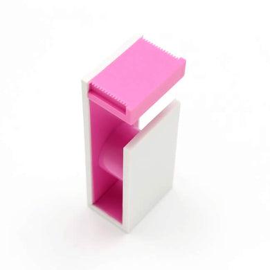 Pink White MT Tape Cutter / Dispenser Two Tone