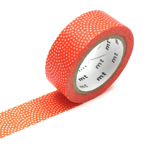 red fan dots washi tape