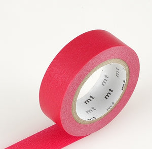 solid red washi tape mt japanese