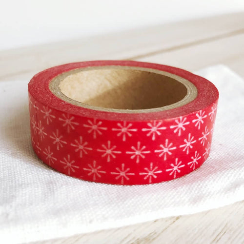 Red Starburst Washi Tape