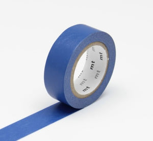 navy blue solid washi tape mt