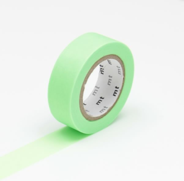 Bright Shocking Green MT Vibrant Solid Japanese Washi Tape