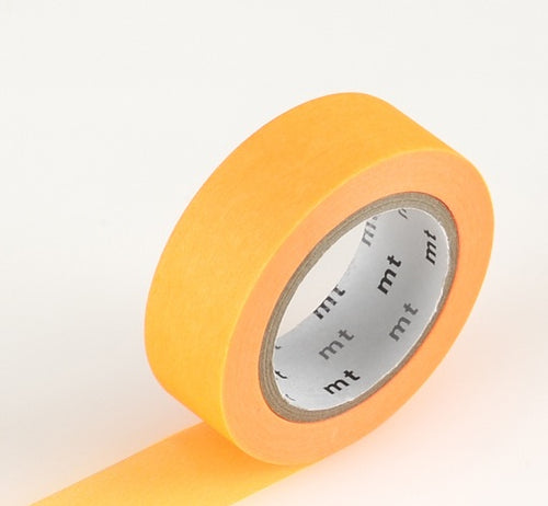 Bright Shocking Orange MT Vibrant Solid Japanese Washi Tape