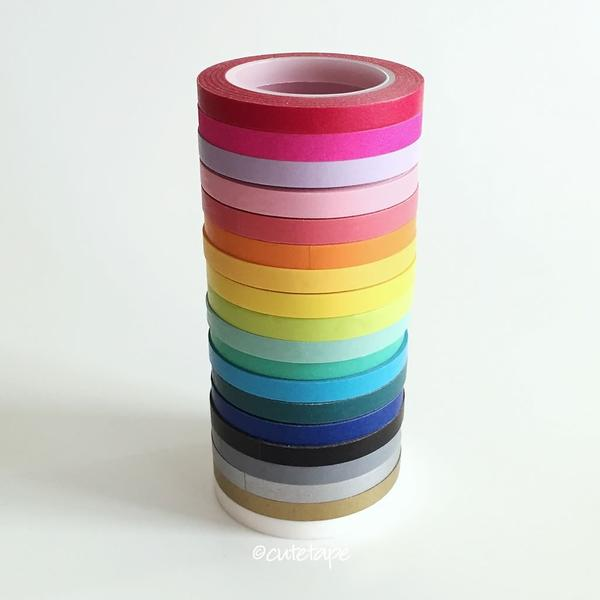 Skinny washi tape narrow and thin 5mm