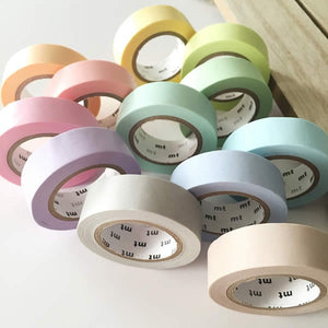 mt solid pastel washi tape japanese
