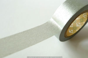 silver solid washi tape mt japanese