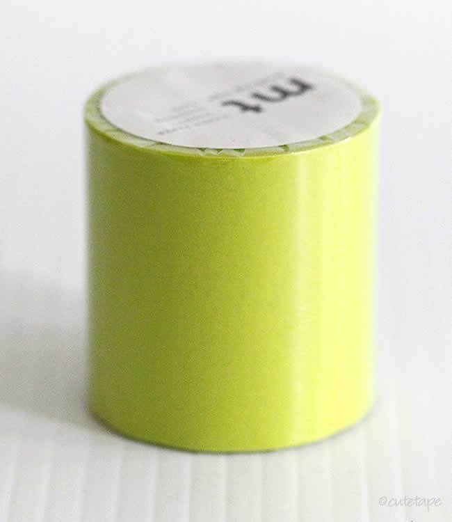 Solid Yellow Green Moegi CASA Washi Tape MT 50mmx10m (Discontinued)