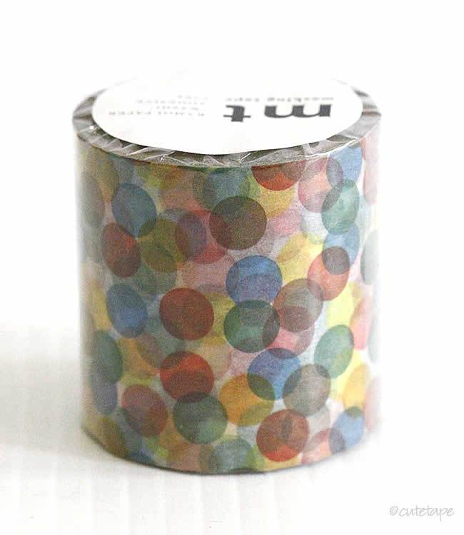 Spots Yellow Red CASA Washi Tape MT 50mmx10m