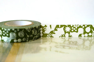 Squirrel Acorn Washi Japanese Tape Autumn Leaves Fall