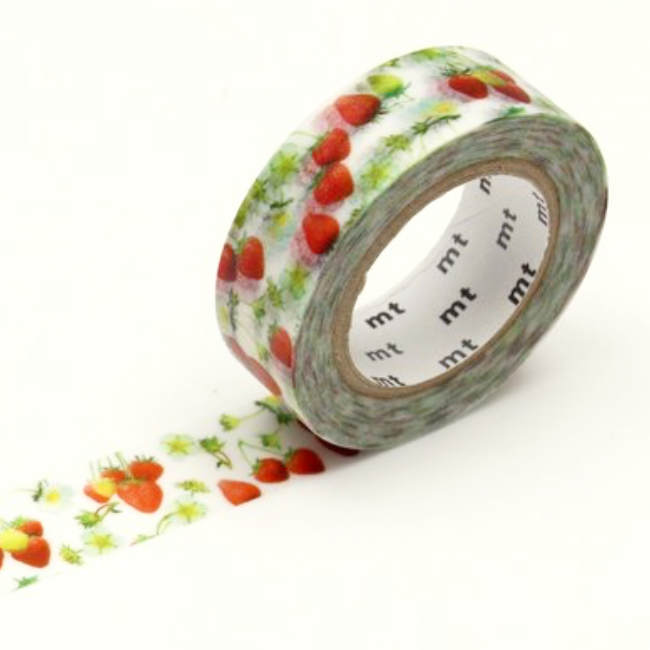 mt Strawberries Washi Tape Masking Tape Japanese Red Strawberry Fruit