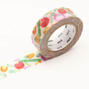 Summer Veggies Washi Tape MT Masking Tape - Japanese