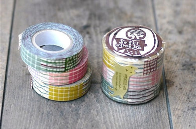 textile grid washi tape pattern Japanese masking tapes