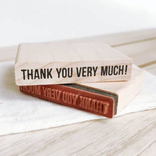 Thank you very much Wooden Rubber Stamp