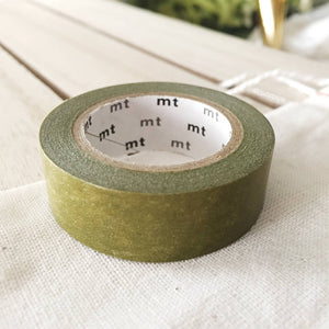 green olive solid washi tape japanese mt