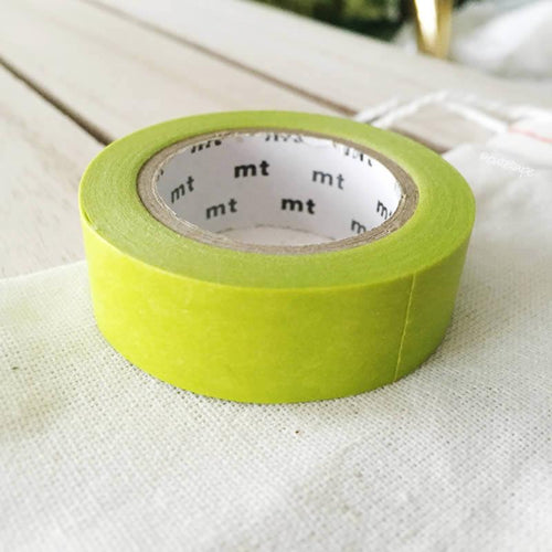 Wakanai: Yellow Green MT Vibrant Solid Japanese Washi Tape