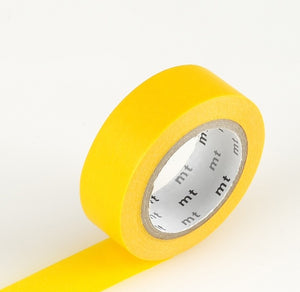 mt solid yellow washi tape japanese