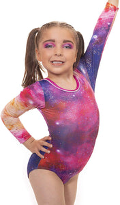 'Nebula' Long Sleeved Gymnastics Leotard - On Sale