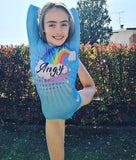 Personalised Rainbow Clouds Long Sleeved Gymnastic Leotard
