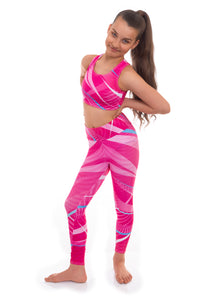 Esprit Pink Crop Top and Leggings Set