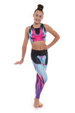 Alexis Neon Crop Top and Leggings Activewear Set