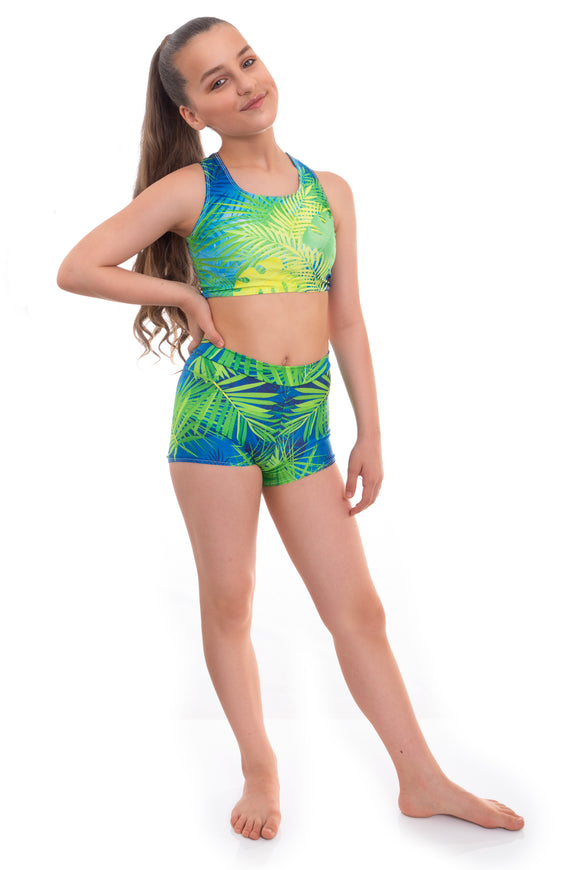 Amazonian Crop Top and Shorts Activewear Set
