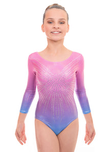 Angel Pink and Blue Ombre Long Sleeved Leotard