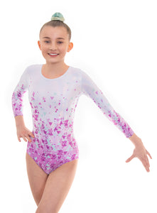 Artemis Pink Long Sleeved Gymnastics Leotard