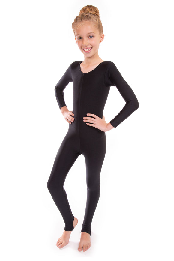 Black Long Sleeved Dance Unitard