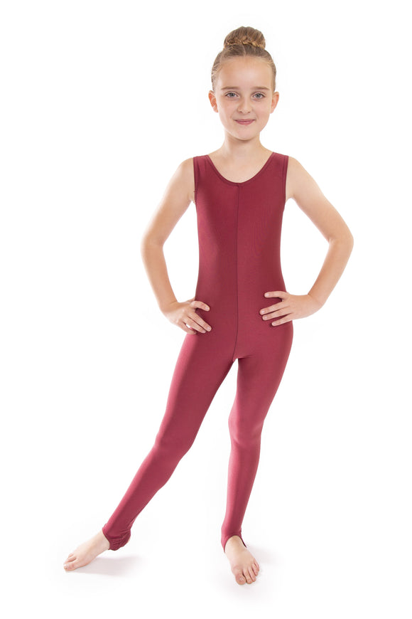 Claret Dance Short Sleeved Unitard Catsuit