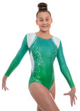 Décor Green Ombre Long Sleeved Leotard