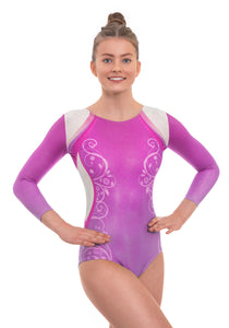 Decor Pink Ombre Long Sleeved Leotard