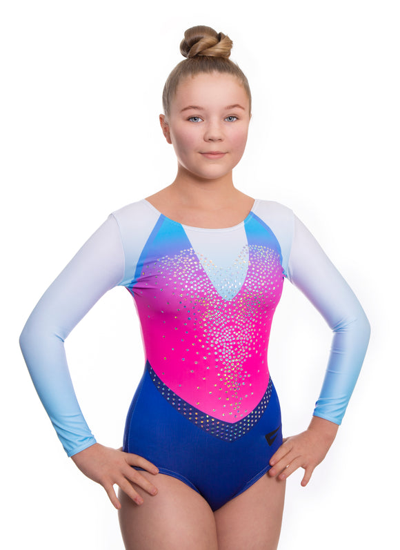 Defiant Deluxe Long Sleeve Gymnastics Leotard