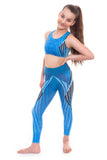 Electrum Blue Crop Top and Leggings Set